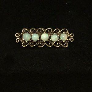 Victorian 14k Gold Opal Pendant
